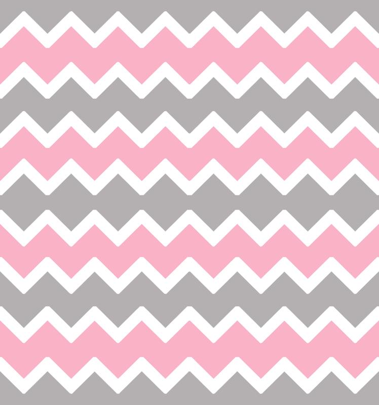 Pink Grey Gray Chevron Zigzag Pattern Wallpaper