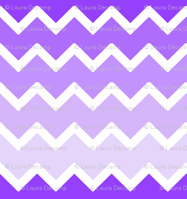 Purple Lavender Lilac Ombre Chevron Zigzag Pattern Fabric