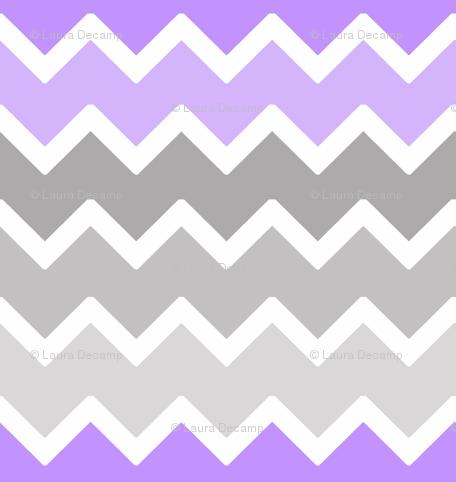 Purple Lavender Lilac Grey Gray Ombre Chevron Zigzag Pattern Wallpaper