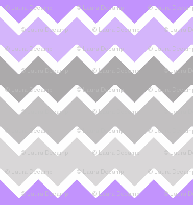 purple lavender lilac grey gray ombre chevron zigzag pattern