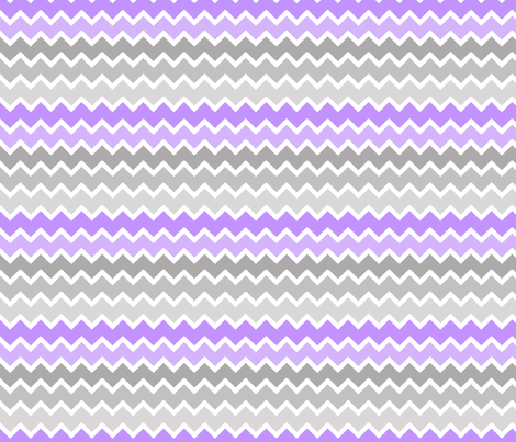purple lavender lilac grey gray ombre chevron zigzag pattern fabric by decamp_studios on Spoonflower - custom fabric