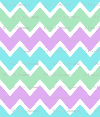 aqua blue green lavender purple chevron zigzag pattern