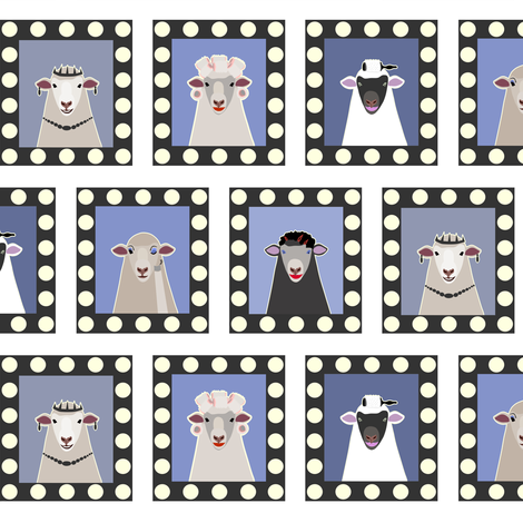 Getting Ready: Prize Sheep Competition fabric by eloise_hose on Spoonflower - custom fabric