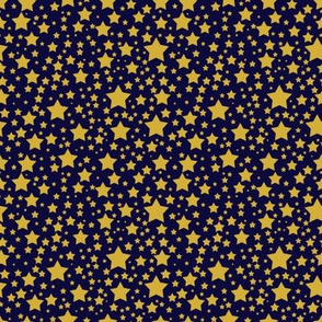 Larger Gold Stars on Navy