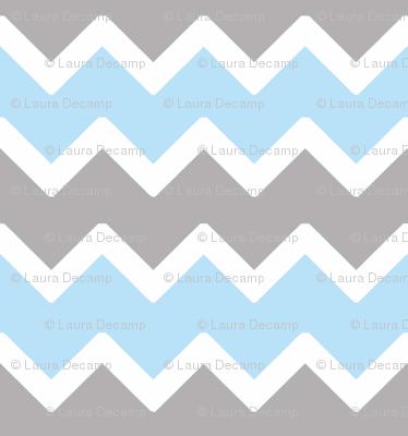 sky blue grey gray chevron