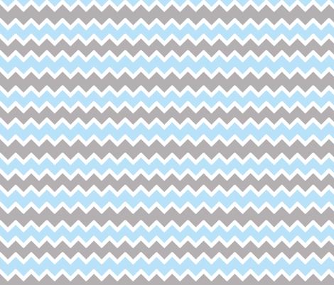 sky blue grey gray chevron  fabric by decamp_studios on Spoonflower - custom fabric