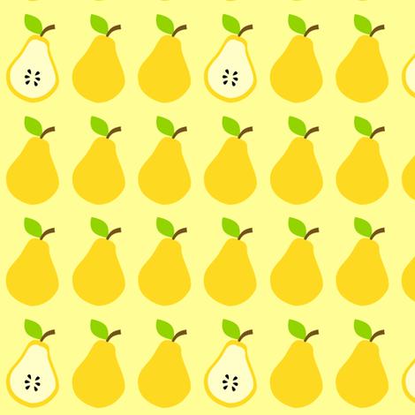 Juicy Pears Yellow fabric by rainbowsandbuttons on Spoonflower - custom fabric