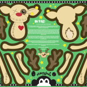 "FQ - 22"" Reindeer VooDoo Doll (fat quarter)"