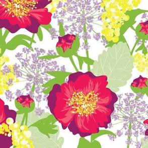 Bohemian Babe Floral Raspberry