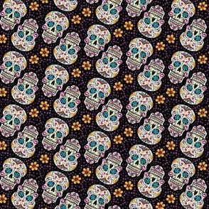 Sugar Skull Day Of The Dead Black