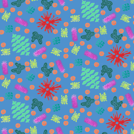 Party Microbes fabric by timaroo on Spoonflower - custom fabric