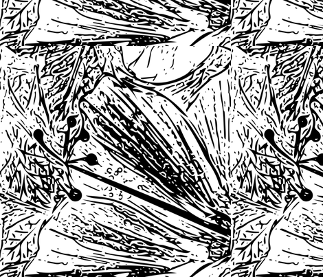 Hibiscus - Hand drawn Vector fabric by pila_fashion_design on Spoonflower - custom fabric
