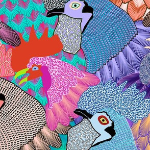 Roosters & Chickens - LARGE