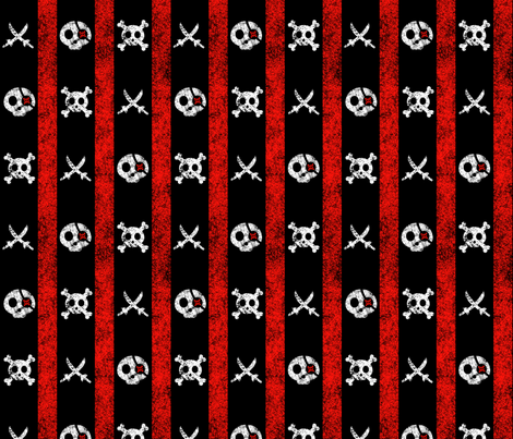 chalk pirate stripes black red white fabric wickedrefined