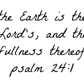 psalm24:1
