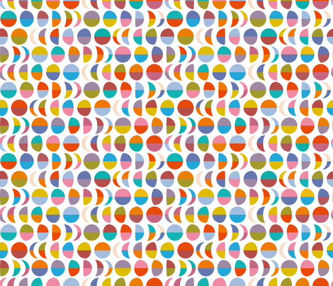 half moons  fabric by cassiopee on Spoonflower - custom fabric