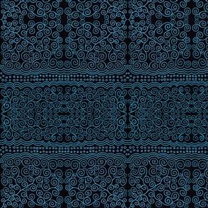 Light Blue Spirals