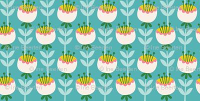Cat Tea Party Tulips