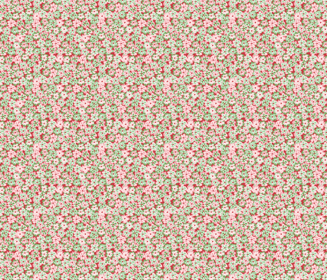 Protea Ditsy Carmine fabric by laine_and_leo on Spoonflower - custom fabric