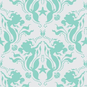 Mermaid Damask - Neptune