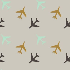 Airplanes_Gray_Background