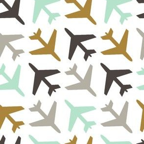 airplanes_gray_mint_gold