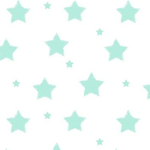 Aqua_Blue_Stars_on_White_background