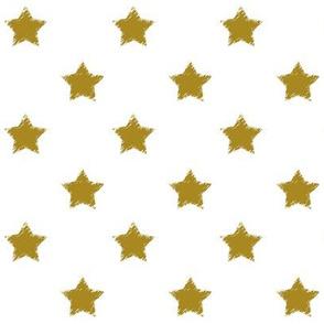 Gold_Stars_on_White_background