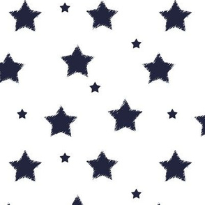Navy_Stars_on_White_Background