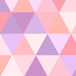 triangles pink and purple