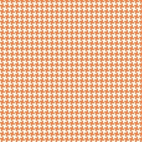 Houndstooth* (Valencia) || geometric midcentury modern 60s 1960s sixties mod baby nursery kids children orange
