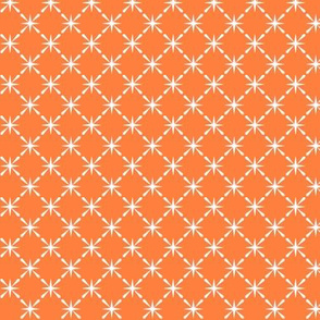 Lattice* (Valencia) || midcentury modern farm vintage retro kitchen chicken wire starburst orange