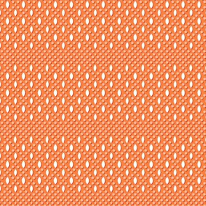 Vivianne* (Valencia) || beads beaded coin purse vintage souvenir polka dots diamonds geometric orange