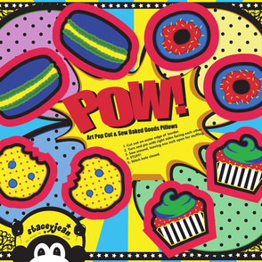 FQ - Pop Art Cut & Sew Cookie Plush (fat quarter)