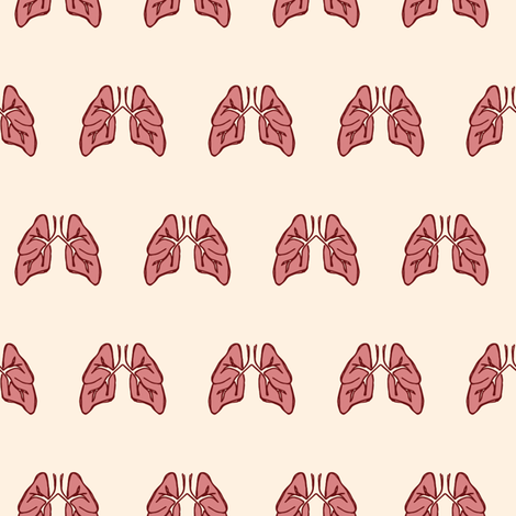 Me Love you Lung Time Cream fabric by joanandrose on Spoonflower - custom fabric