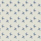 Ditsy Blue Dragonfly Pattern