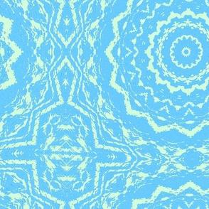 Blue colored tile