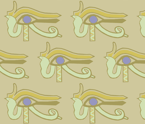 Egyptian Asp fabric by ricerafferty on Spoonflower - custom fabric