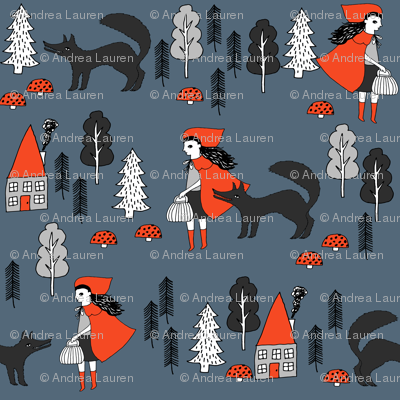 Red Riding Hood - Payne's Grey by Andrea Lauren