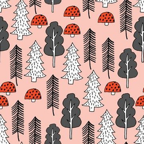 Trees - Red Riding Hood - Pale Pink by Andrea Lauren