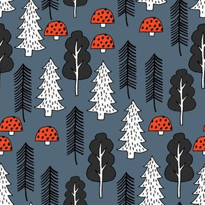 Trees - Red Riding Hood - Payne's Grey by Andrea Lauren