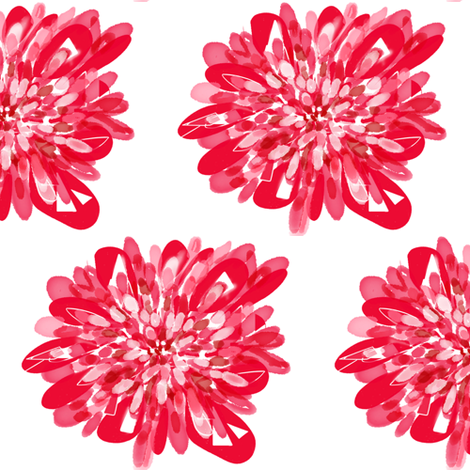 Dilly Dahlia fabric by rufkisneptune on Spoonflower - custom fabric