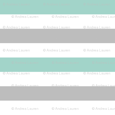 Stripe Coordinate - Red Riding Hood - Pale Turquoise Slate by Andrea Lauren