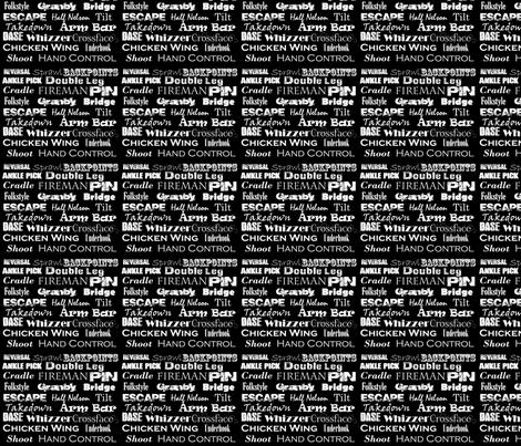 Wrestling_Words fabric by sgarrett on Spoonflower - custom fabric