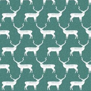 Reindeer - Evergreen Linen by Andrea Lauren