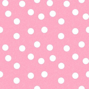 Christmas Dots Coordinate - Candy Pink Linen Look by Andrea Lauren