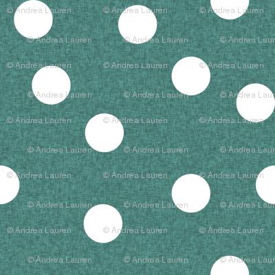 Christmas Dots Coordinate - Evergreen Linen Coordinate by Andrea Lauren
