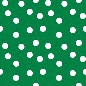 Christmas Dots Coordinates - Kelly Green Linen Look by Andrea Lauren
