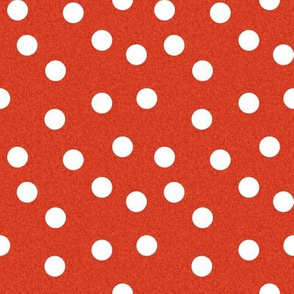 Christmas Dots Coordinate - Scarlet Red Linen Look by Andrea Lauren