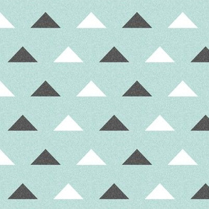 Christmas Winter Triangles Coordinate - Arctic Ice Blue Linen Look by Andrea Lauren